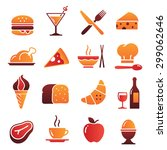 a collection of funny icons... | Shutterstock .eps vector #299062646