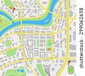 a generic city map of an... | Shutterstock .eps vector #299062658
