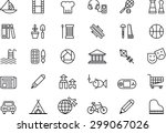 set of leisure outlined icons | Shutterstock .eps vector #299067026