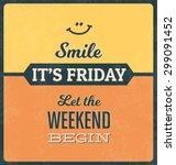 retro typographic poster design ... | Shutterstock .eps vector #299091452