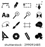 graphic design icons set   Shutterstock .eps vector #299091485