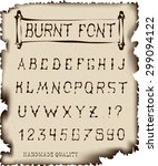 burnt font hand crafted retro... | Shutterstock .eps vector #299094122