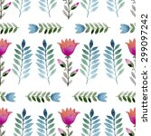 seamless pattern consisting of... | Shutterstock .eps vector #299097242