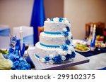 wedding cake. sweet cake. | Shutterstock . vector #299102375