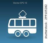 flat tram icon. vector | Shutterstock .eps vector #299105282