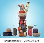 Tourist Roof Luggage Landmarks - Fine Art prints