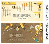web banner concept of diy shop. ... | Shutterstock .eps vector #299118842