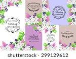 romantic invitation. delicate... | Shutterstock . vector #299129612
