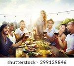 friend friendship dining... | Shutterstock . vector #299129846
