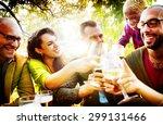 friends friendship outdoor... | Shutterstock . vector #299131466