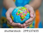 Globe In Hands. The Whole World ...