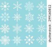 snowflakes silhouette... | Shutterstock .eps vector #299160812