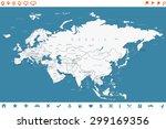 eurasia   map and navigation... | Shutterstock .eps vector #299169356