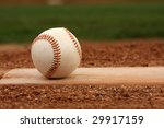baseball on the pitchers mound | Shutterstock . vector #29917159
