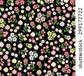 seamless vector flower pattern. | Shutterstock .eps vector #299172722