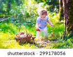 adorable little girl playing in ... | Shutterstock . vector #299178056