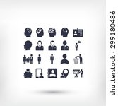 business man icons | Shutterstock .eps vector #299180486