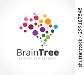 brain tree creative learning... | Shutterstock .eps vector #299187545