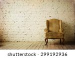old retro armchair against... | Shutterstock . vector #299192936
