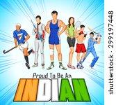 illustration of india... | Shutterstock .eps vector #299197448