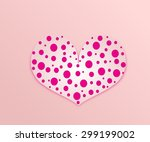 light pink heart with pink... | Shutterstock . vector #299199002