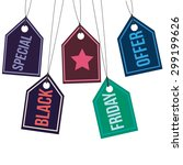 group of labels with text and... | Shutterstock .eps vector #299199626