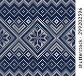 knitted sweater design.... | Shutterstock .eps vector #299202596