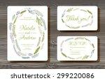 unique vector wedding cards... | Shutterstock .eps vector #299220086