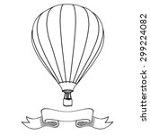 hot air balloon in the sky with ...   Shutterstock .eps vector #299224082