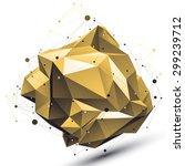 spatial technological deformed... | Shutterstock .eps vector #299239712