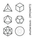 sacred geometry   platonic... | Shutterstock .eps vector #299246972