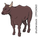 bull isolated animal | Shutterstock .eps vector #29926063