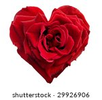Heart Shaped Rose Isolated On...