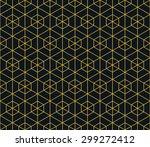seamless neon orange hexagonal... | Shutterstock .eps vector #299272412