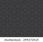 seamless dark gray hexagonal... | Shutterstock . vector #299272415