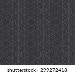 seamless dark gray hexagonal... | Shutterstock .eps vector #299272418