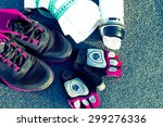 sport clothes and all you need... | Shutterstock . vector #299276336