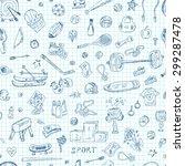 sports. seamless pattern of... | Shutterstock .eps vector #299287478