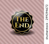 the end black shiny badge | Shutterstock .eps vector #299294672