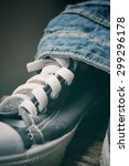 sneakers with jeans | Shutterstock . vector #299296178