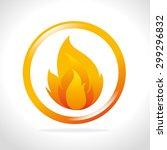 fire digital design  vector... | Shutterstock .eps vector #299296832