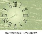 Old Wall Clock Vector