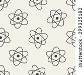 atom doodle seamless pattern... | Shutterstock . vector #299325182