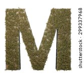 letter m made of dead grass ...