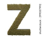 letter z made of dead grass ...