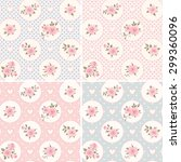 set of seamless patterns with... | Shutterstock .eps vector #299360096