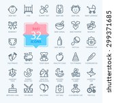 Outline Web Icon Set. Baby Toy...