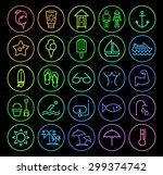 set of elegant universal... | Shutterstock .eps vector #299374742