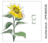 Sunflower Card Illustration ...