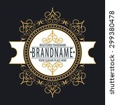 premium monogram flourishes... | Shutterstock .eps vector #299380478